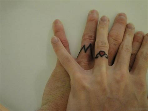 small ring tattoos 43 best finger tattoos for couples