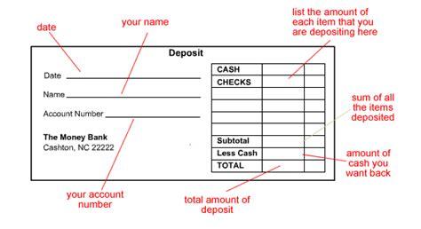 generic deposit slip template free sle deposit slips