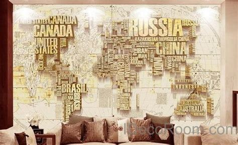 Home Decor Nation by Abstract World Map Nation 3d Wallpaper Wall Decals Wall