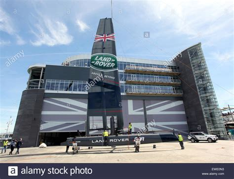 land rover headquarters southsea hshire uk 24th june 2015 gv of the land