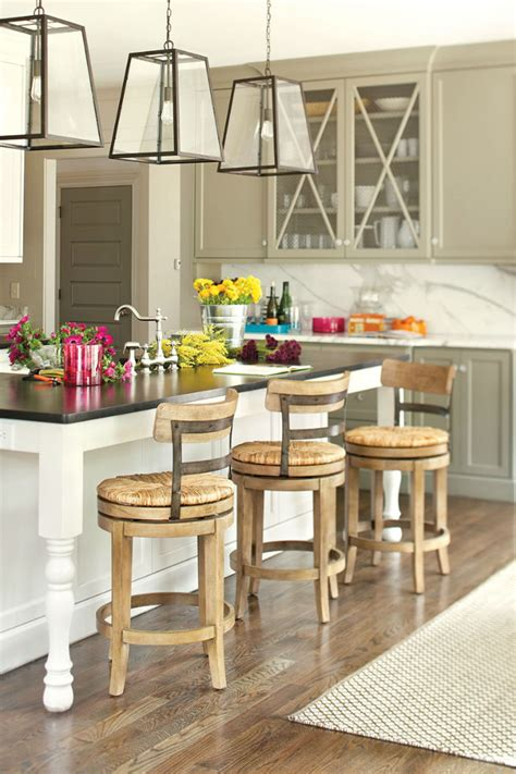 kitchen island with barstools 7 tips for decorating your kitchen with breakfast bar stools