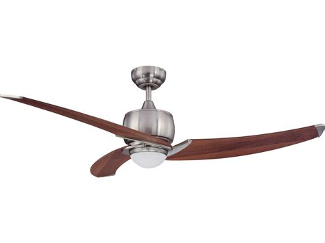 wide blade ceiling fans kendal lighting treo satin nickel with royal walnut blades