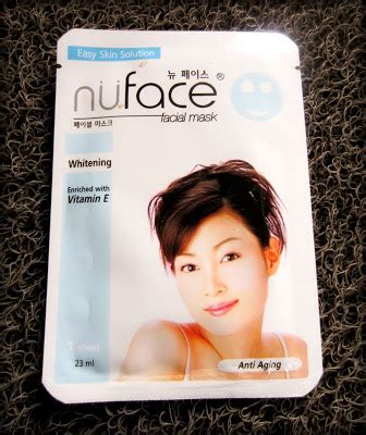 Nuface Mask Sheet weekly mask nuface whitening anti aging mask