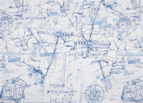 Nautical Upholstery Fabric by Nautical Print Cotton Fabric
