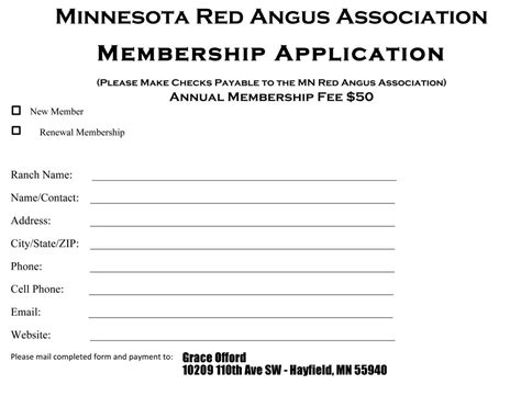 membership form template doc membership form minnesota angus association