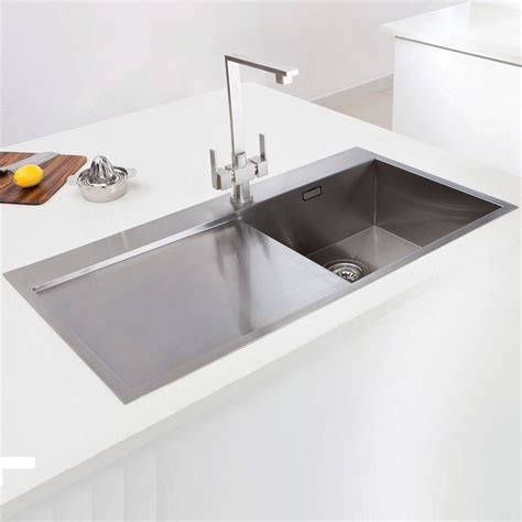 Inset Sinks Kitchen Stainless Steel | caple cubit 100 stainless steel single bowl inset kitchen sink