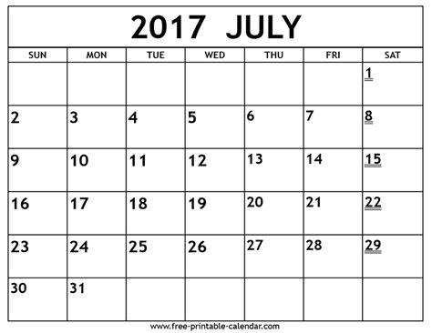printable calendar july 2017 to june 2018 printable 2017 july calendar free printable 2018