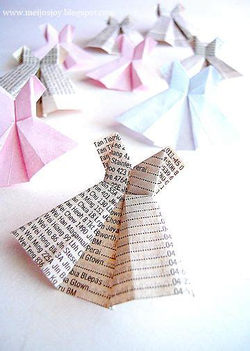 Paper Dress Origami - paper dresses paper and origami on