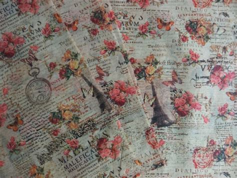 pattern tissue paper vintage flowers eiffel tower pattern gift wrapping