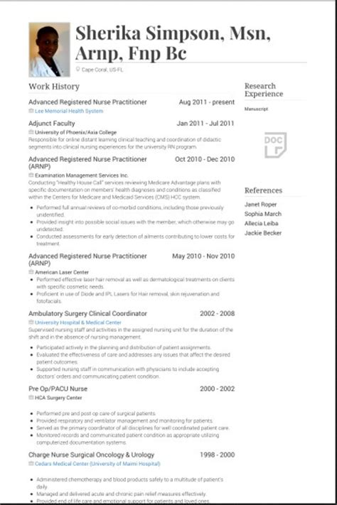 Sle Practitioner Resume by Practitioner Resume Sles 28 Images Family Practitioner