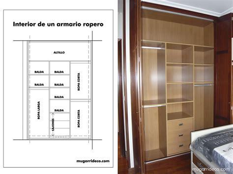 interiores armario interior de armarios dise 241 os arquitect 243 nicos mimasku
