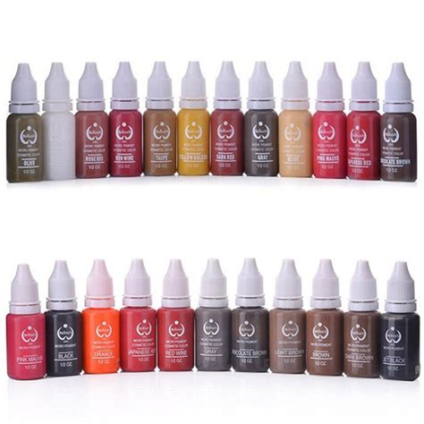 tattoo lips permanent color price free shipping 10 pcs tattoo pigments for eyebrow lips