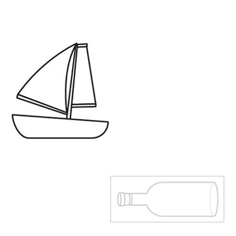 como hacer un barco dibujo facil barco dentro de una botella dibujo para colorear e imprimir