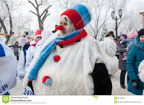 new year competition new year competition of snowmen editorial stock image