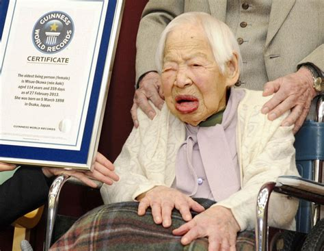 living person the centenarian diet world s oldest person misao okawa