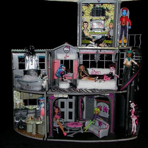 monster high houses monster high haunted house dollhouses monster high barbies pi
