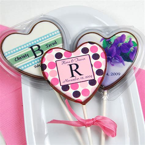wedding favors lollipops chocolate wedding favors bitsy