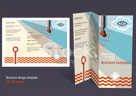 brochure booklet z fold editable design template stock