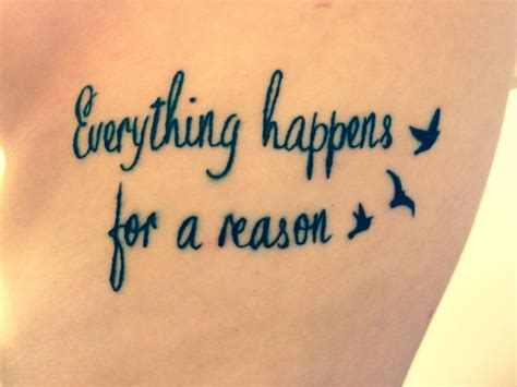 everything happens for a reason tattoo designs 25 best ideas about tattoos on ribs on