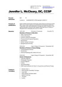 Curriculum Vitae Chiropractic by Registered Cv Medical Medical Assistant Resume Templates
