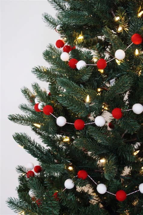 christmas tree garland christmas felt ball garland holiday