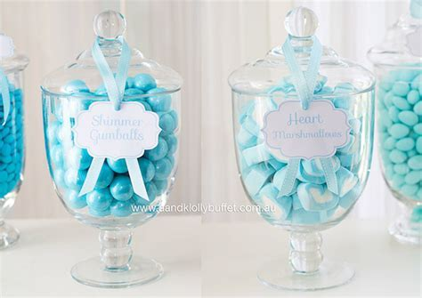 Kara's Party Ideas Candy Filled Apothecary Jars from a Little Prince Baby Shower via Kara's