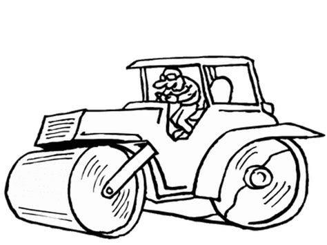 desenho de trator retroescavadeira e escavadeira para colorir as m 225 quinas pesadas