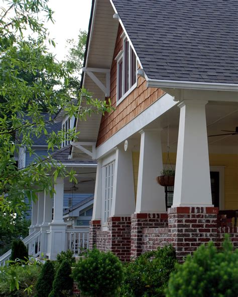 Banister Brackets Front Porch Column Ideas Exterior Traditional With Bay