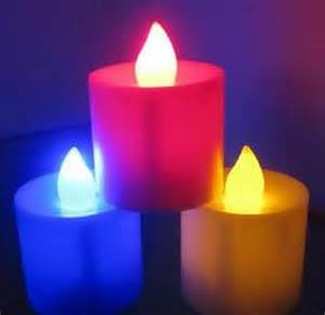 color candles multicolor unique and soothing tealight led candles set
