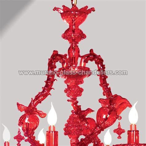 kronleuchter rot quot rubino quot rot murano glas kronleuchter murano glass