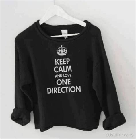 1d Shirt Black shirt black one direction cool keep calm