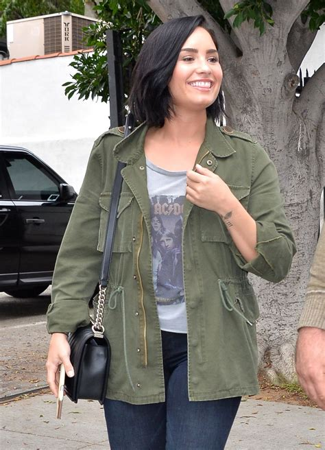 demi lovato st song demi lovato street style heading to the office in west