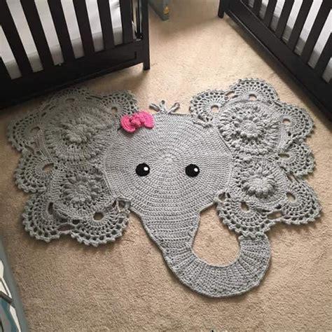 Crochet Elephant Rug Future Kids Pinterest Crochet Elephant Rug