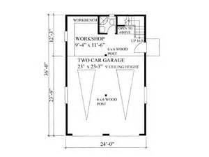 Garage Workshop Floor Plans by Garage Workshop Plans 2 Car Garage Workshop Plan With