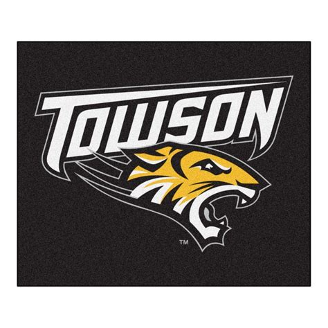 home depot towson fanmats ncaa towson black 5 ft x 6 ft area