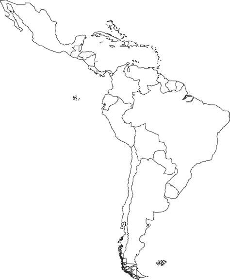 map outline of central america blank map of central america and caribbean islands