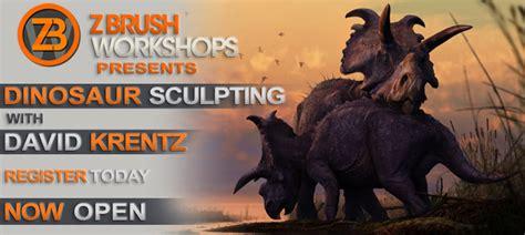zbrush dinosaur tutorial pixologic zbrush blog 187 dinosaur sculpting with david krentz
