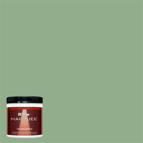 behr marquee 8 oz mq6 46 flora green interior exterior paint sle mq30416 the home depot