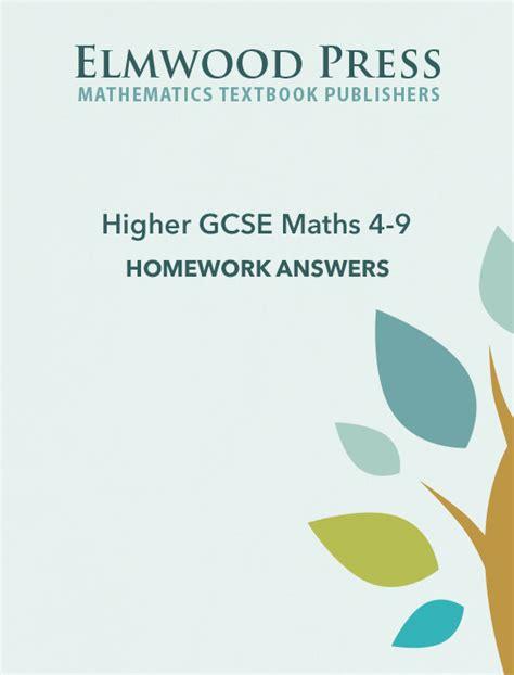 target your maths year 5 elmwood education higher gcse maths 4 9 homework answer book elmwood education