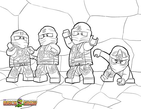 free ninjago first spinjitzu master coloring pages