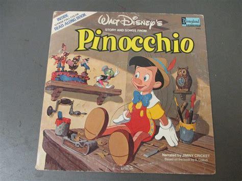 pinocchio picture book walt disney s pinocchio read along book lp disneyland
