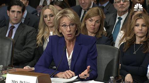 betsy devos rich devos education nominee devos guns may have a place in school