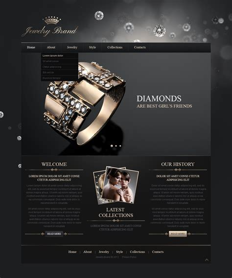 templates for jewellery website jewelry responsive website template web design templates