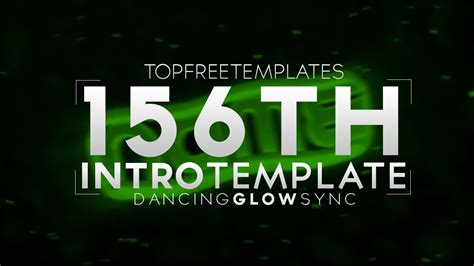 Free Intro Template Dancing Glow Sync 156 W Tutorial Youtube Top Free Templates