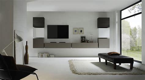 Besta Betonoptik by Meuble Tv Mural Blanc Laqu Gris Mat Et Weng Meubles Design