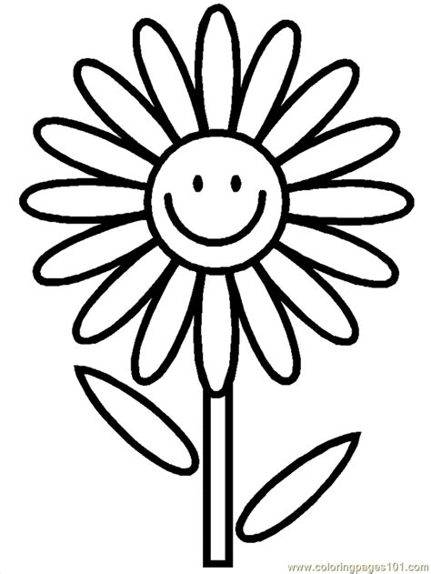 Cartoon flowers coloring page free printable coloring pages