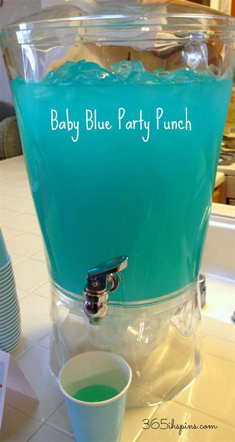 Baby Boy Shower Recipes by Pink Punch Blue Punch Easy Baby Shower Recipes Blue