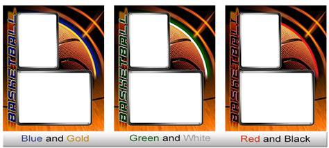 basketball trading card template basketball photo templates