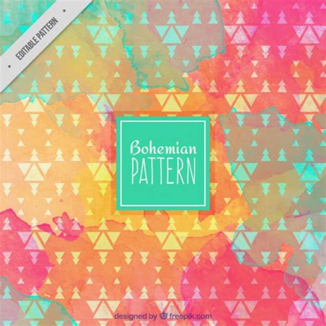 free vector watercolor bohemian feather pattern download watercolor bohemian pattern vector premium download