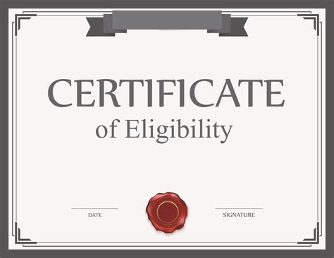 what you need to certificate of eligibility